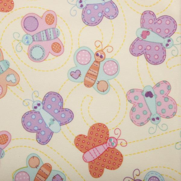 Sweet Stuff Butterflies printed PUL bolted fabric 8YD Bolt -Special Order