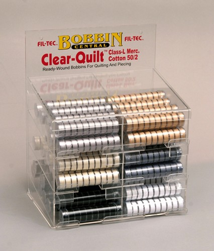 Clear-Quilt (Class L) Bobbins Basic Colors Display Unit
