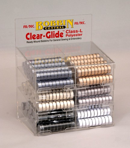 Clear-Glide (Class L) Bobbins Basic Colors Display Unit