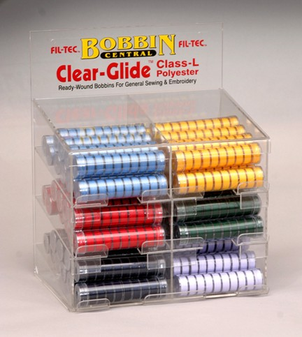 Clear-Glide (Class L) Bobbins Bright Colors Display Unit