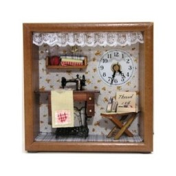 Mini Sewing Room with Clock