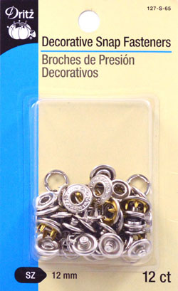 Decorative Snaps, Filigree, Silver, 12/pkg